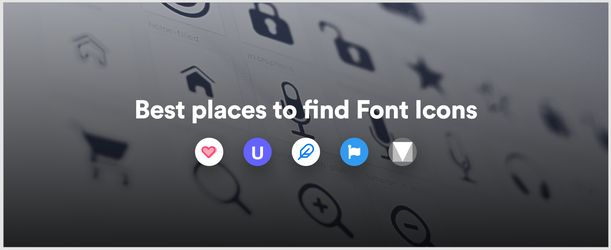 Best Places To Find Font Icons
