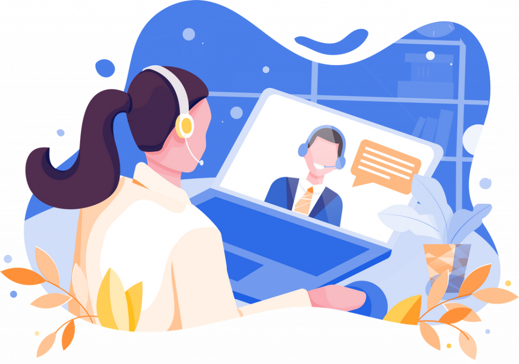 Online Interview Illustrations