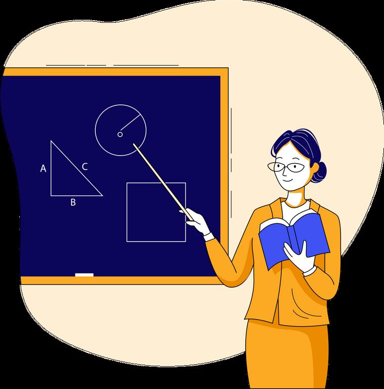 Online learning illustrations