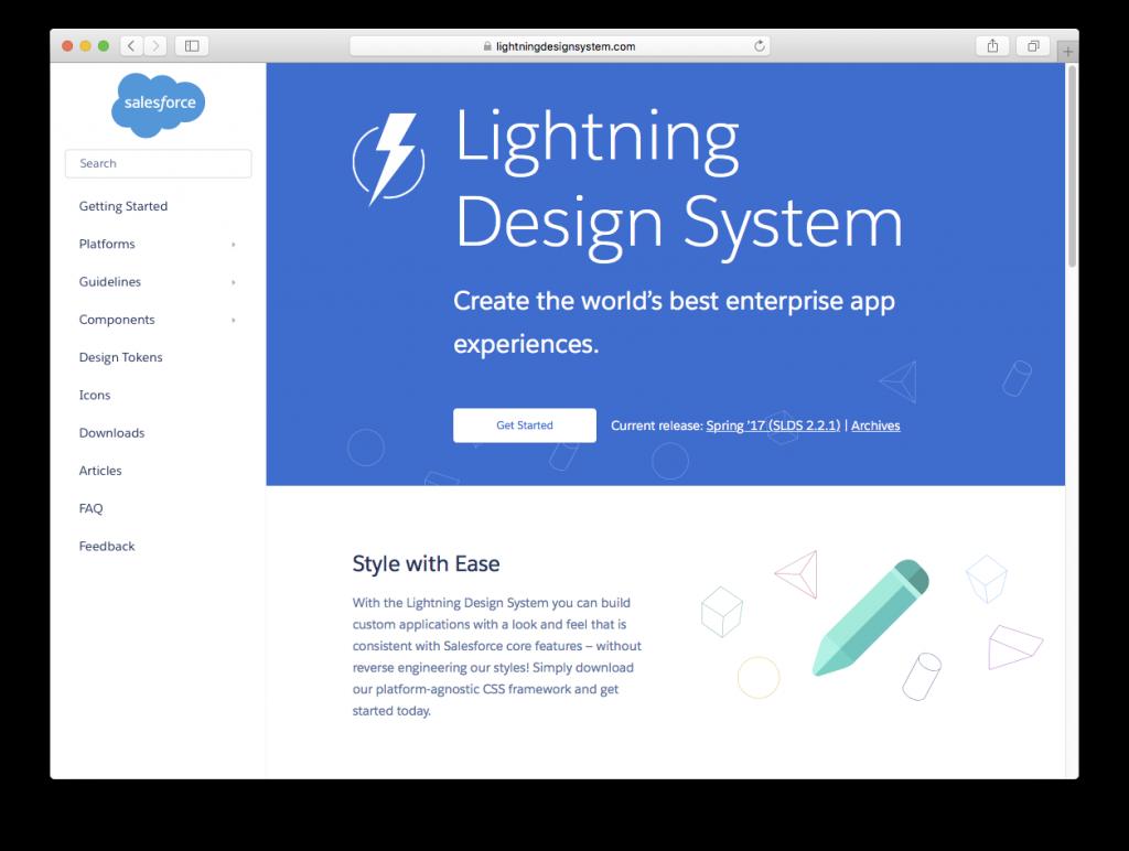 Lightning design system by Salesforce