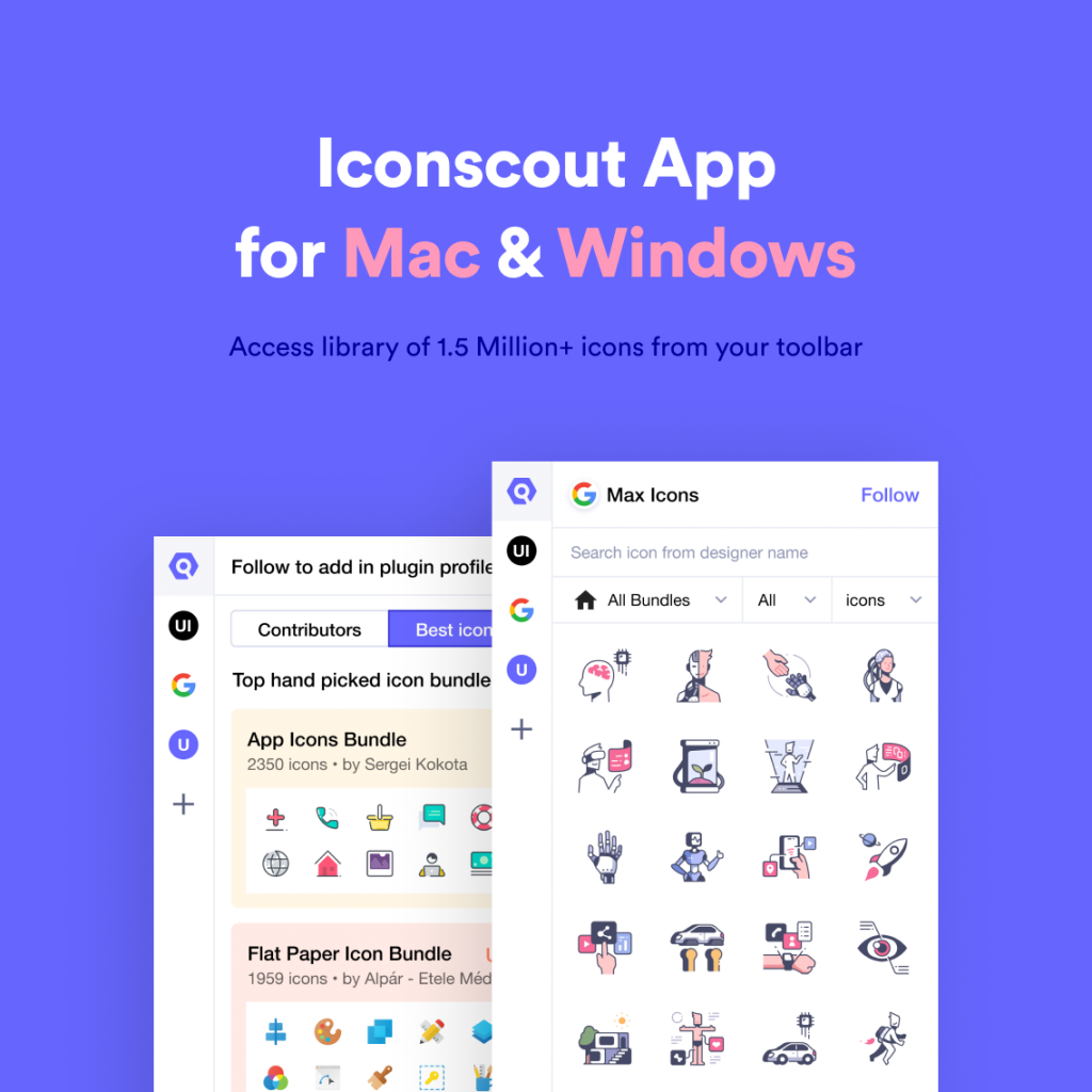 Iconscout Desktop app for Mac and Windows