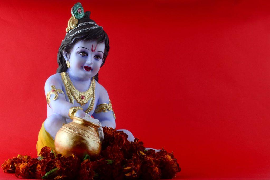 God krishna stock photos