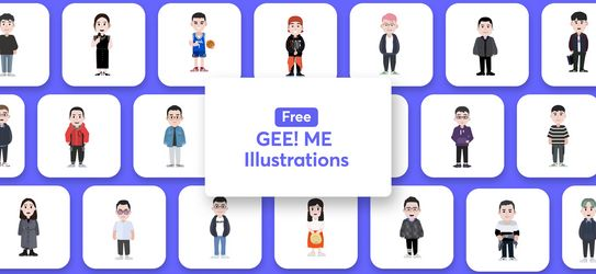 Free Illustrations pack - GEE Me Illustrations