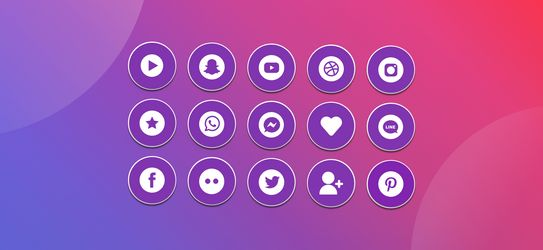 Mega Collection of The Best Free Social Media Icons
