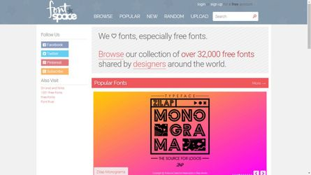 7 best places to find Creative Fonts