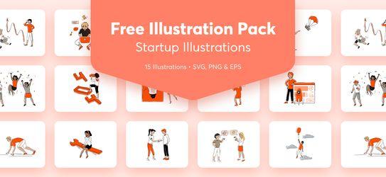 Free illustration pack: Startup Illustrations