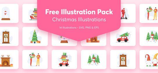 Free Christmas Illustration Pack: Holiday Season