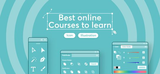 Best Online Courses to learn icon/illustration design