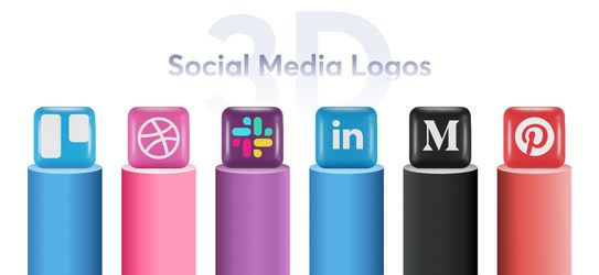 Free Icon Pack: Social Media 3D Icons