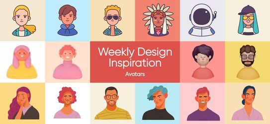 Weekly Design Inspiration - Avatars