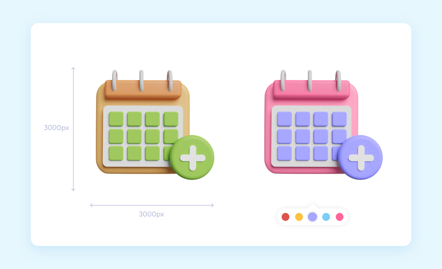 3D Icons in Different Colors- Iconscout Color Editor