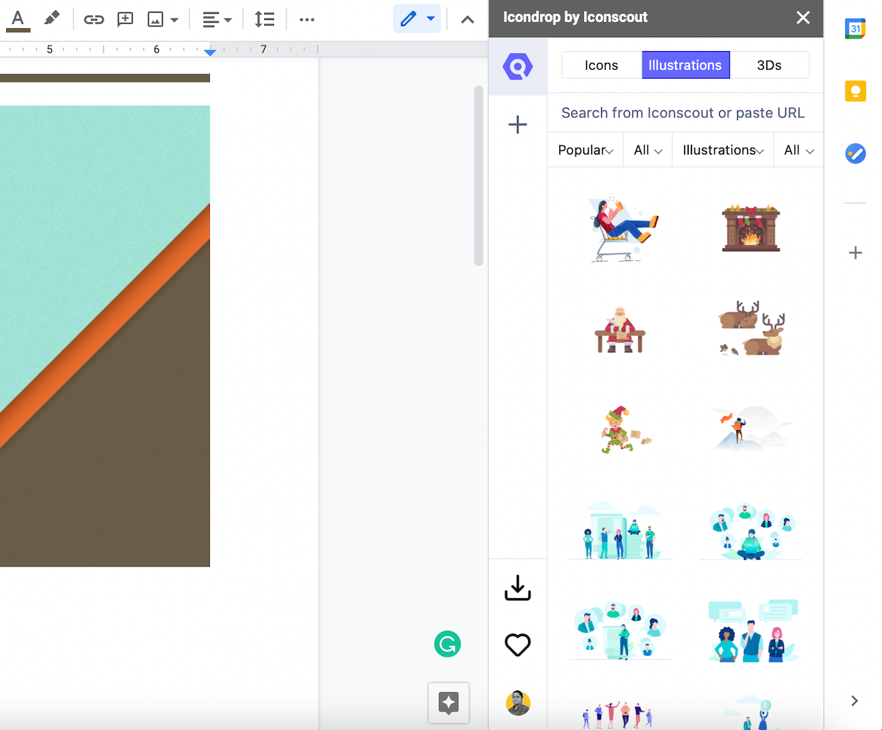 Illustrations in Iconscout plugin