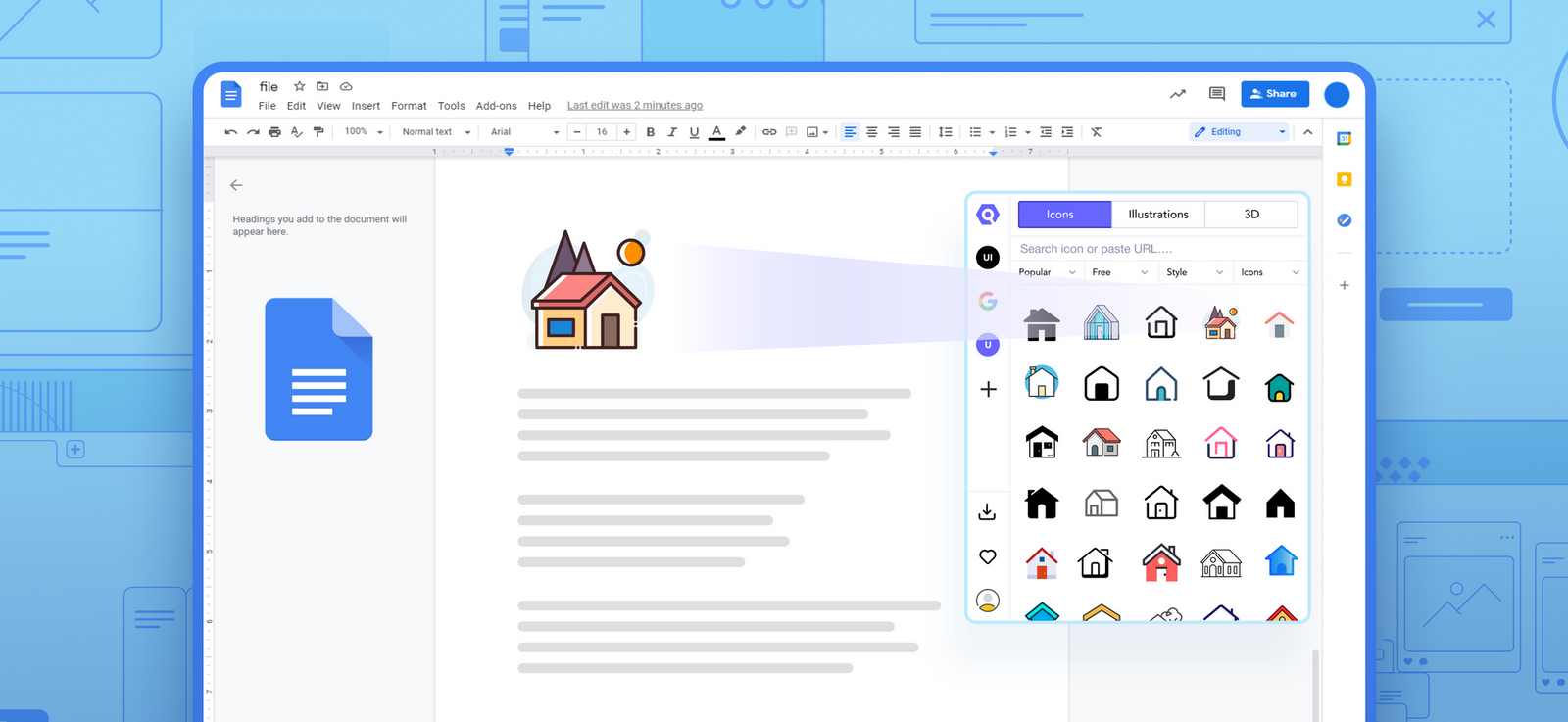 Quick Hack: Add Icons to Google Docs