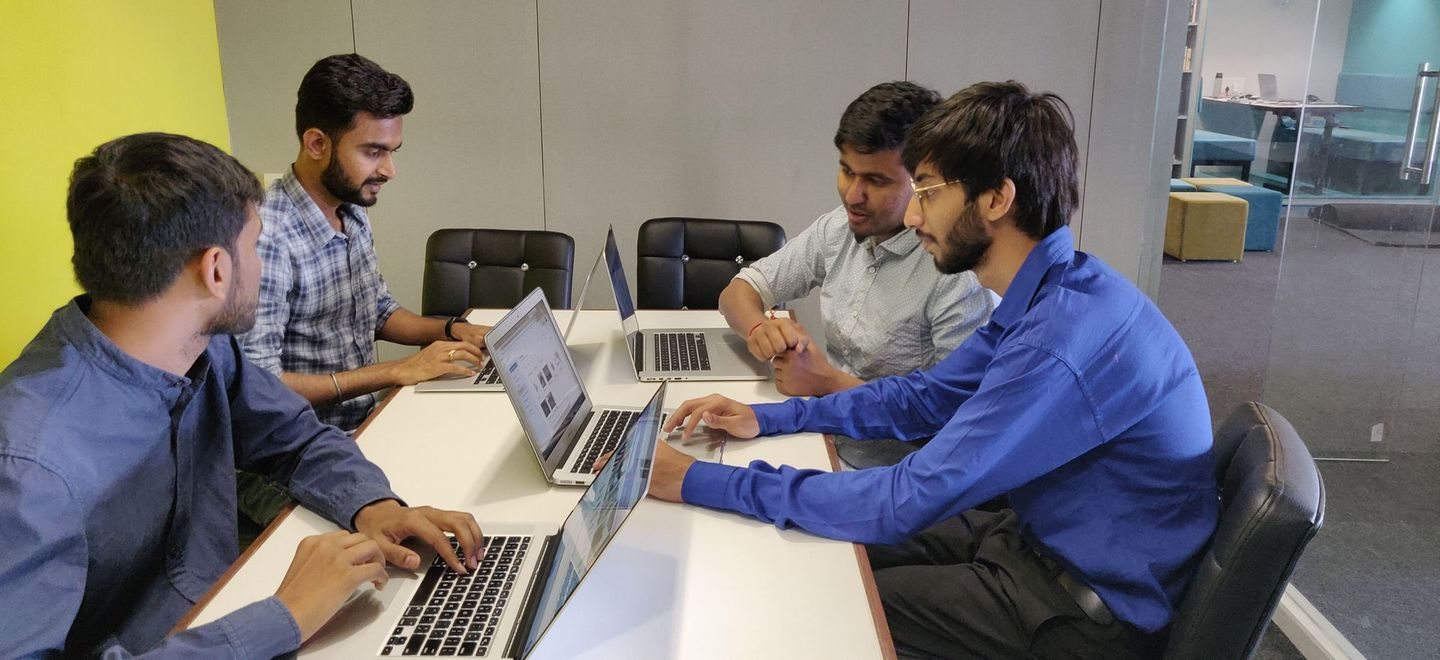 Sahil with his team at Iconscout