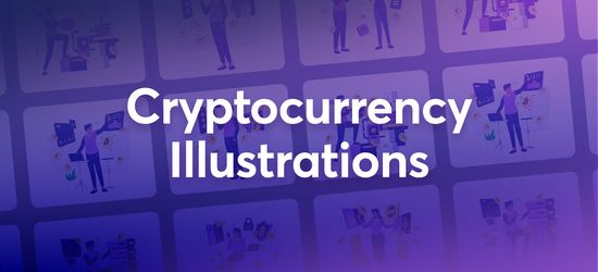 Cryptocurrency Illustrations Pack