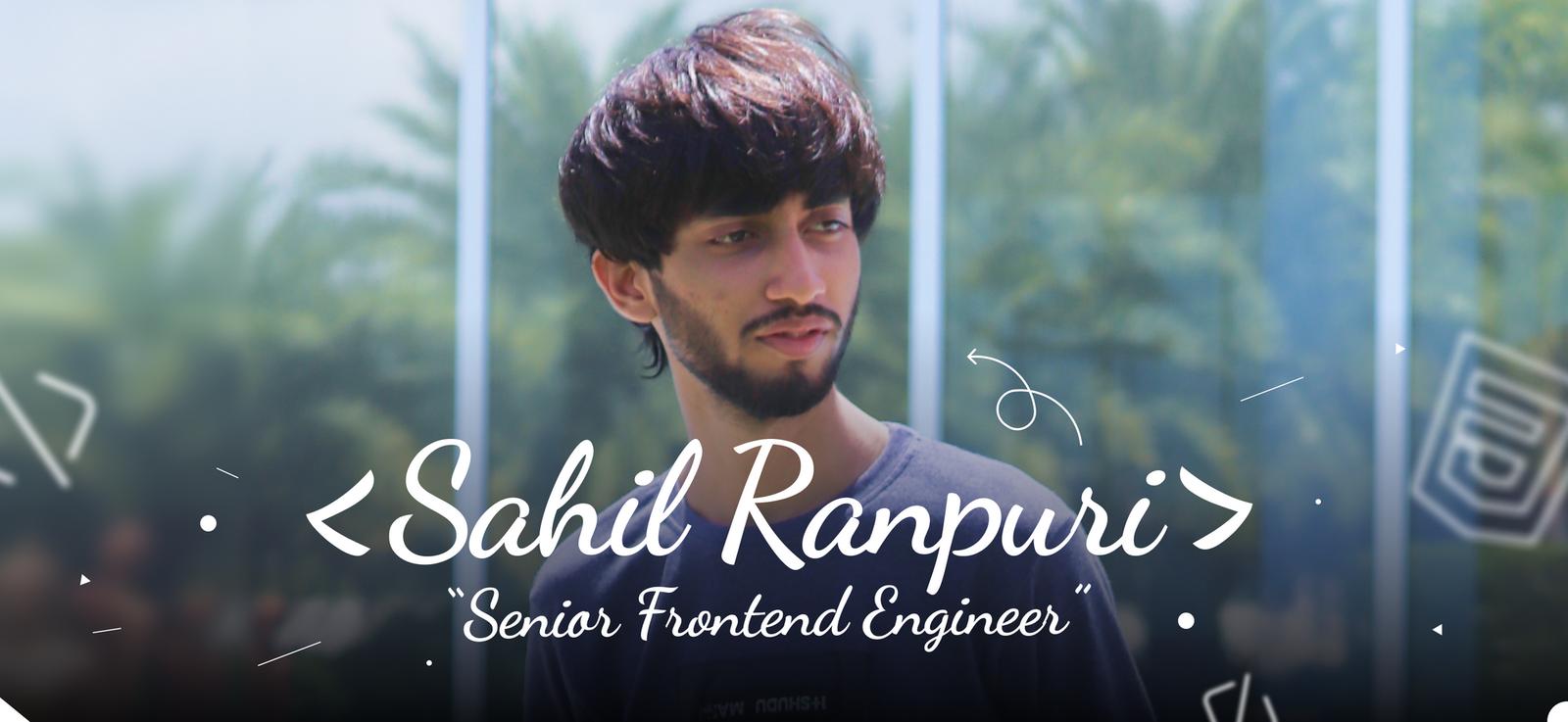Team Iconscout: Sahil Ranpuri, Senior Frontend Engineer