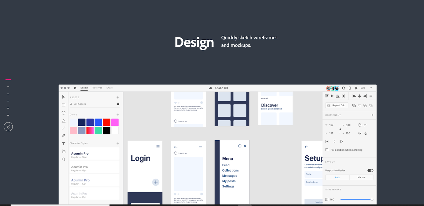 Adobe XD- Quikly Sketch Wireframes & Mockups