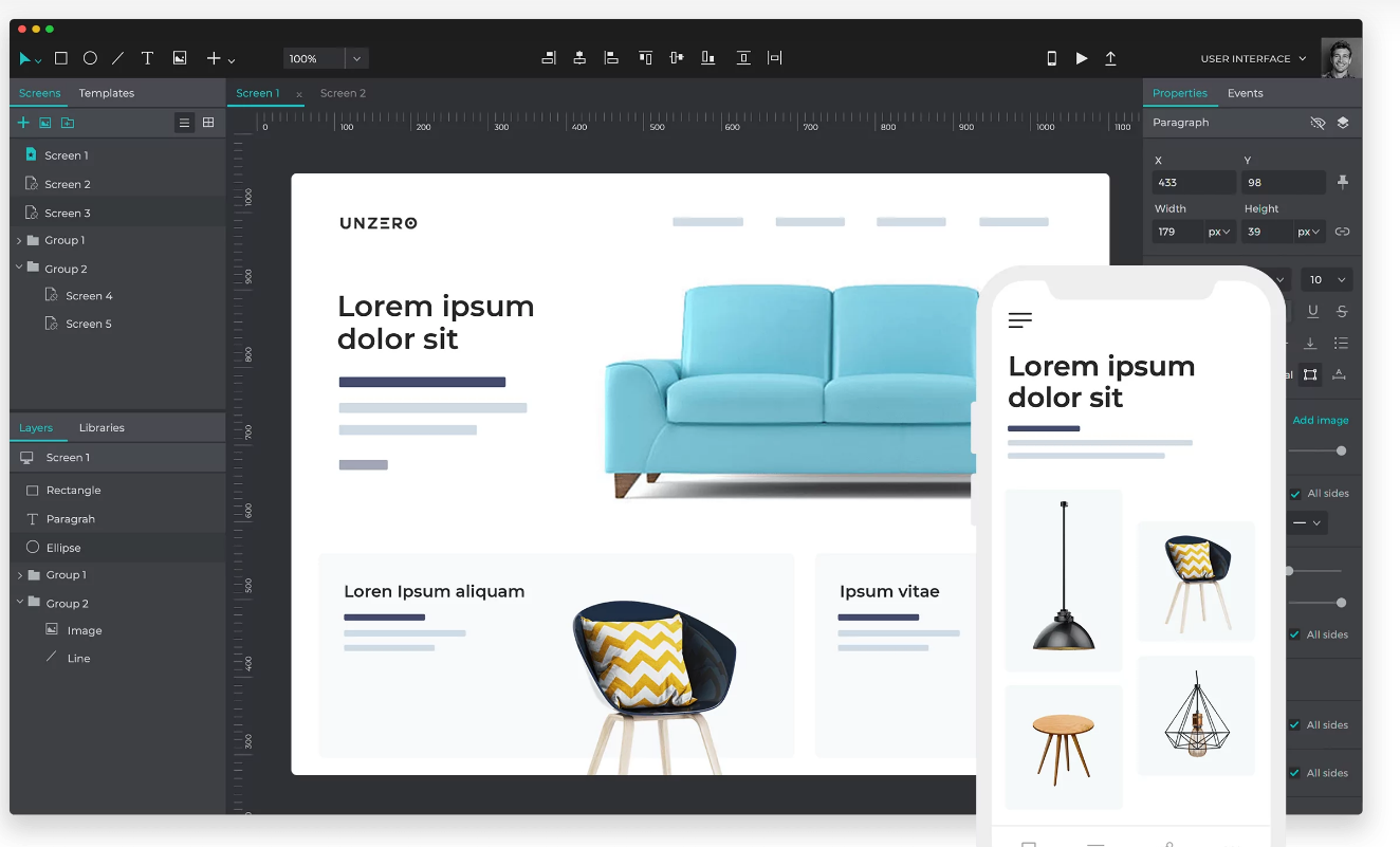 Justinmind - A design software to create unlimited wireframes