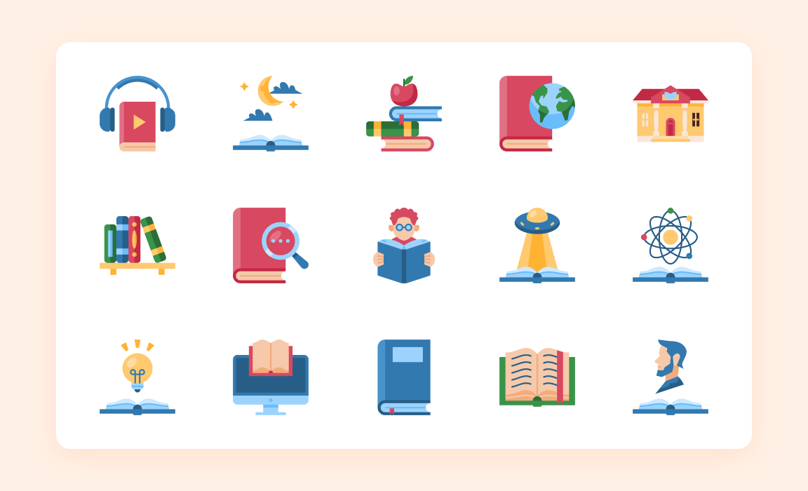 Literacy Icon Pack - Iconscout