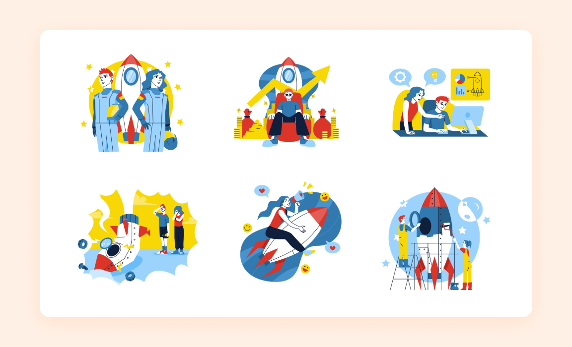 Startup Illustration Pack- Iconscout