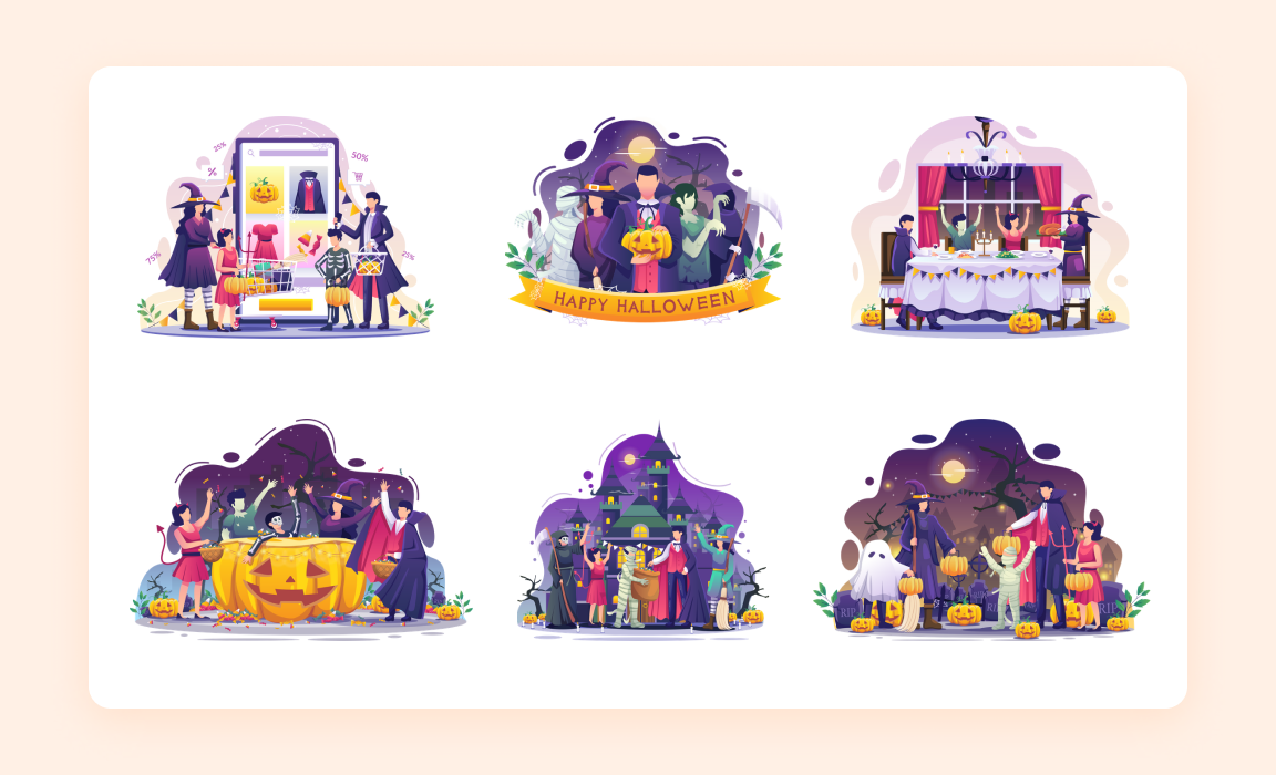 Halloween Illustration Pack - Iconscout